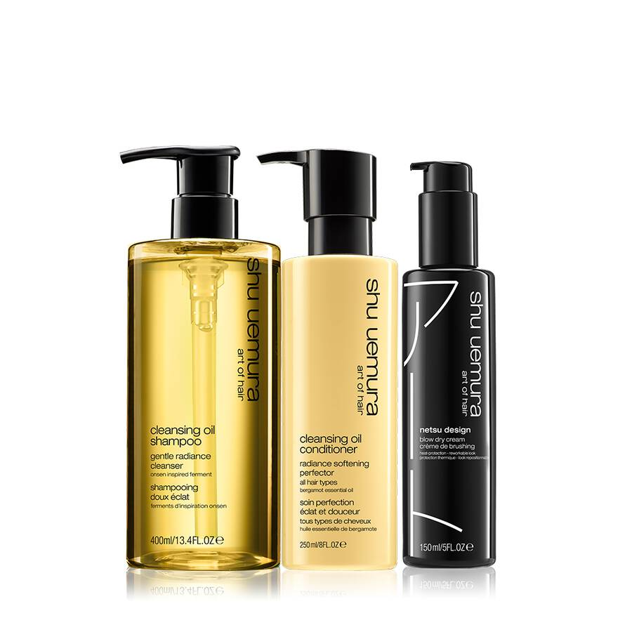 cleansing oil hair set for thick hair