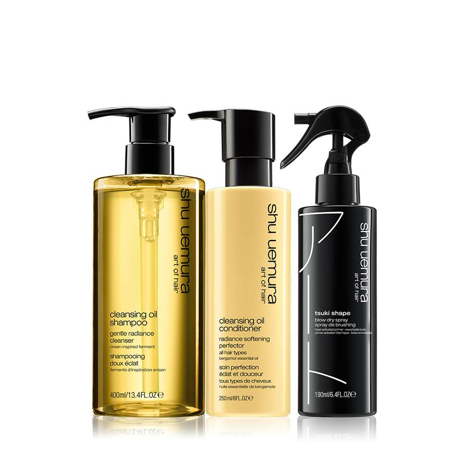cleansing oil hair set for fine hair