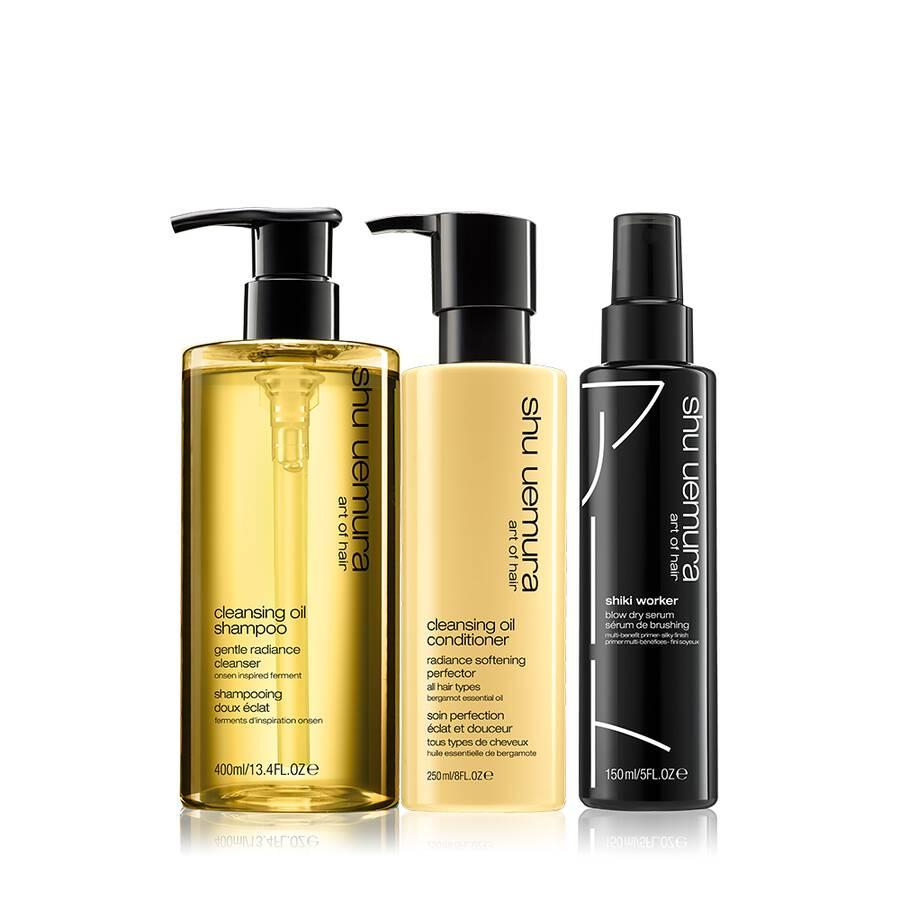 cleansing oil hair set for dry hair