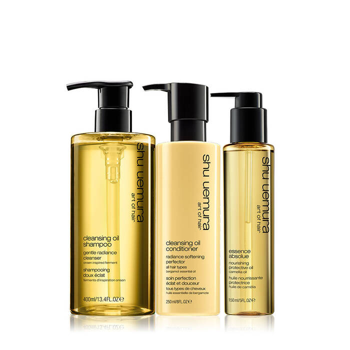 cleansing oil hair set