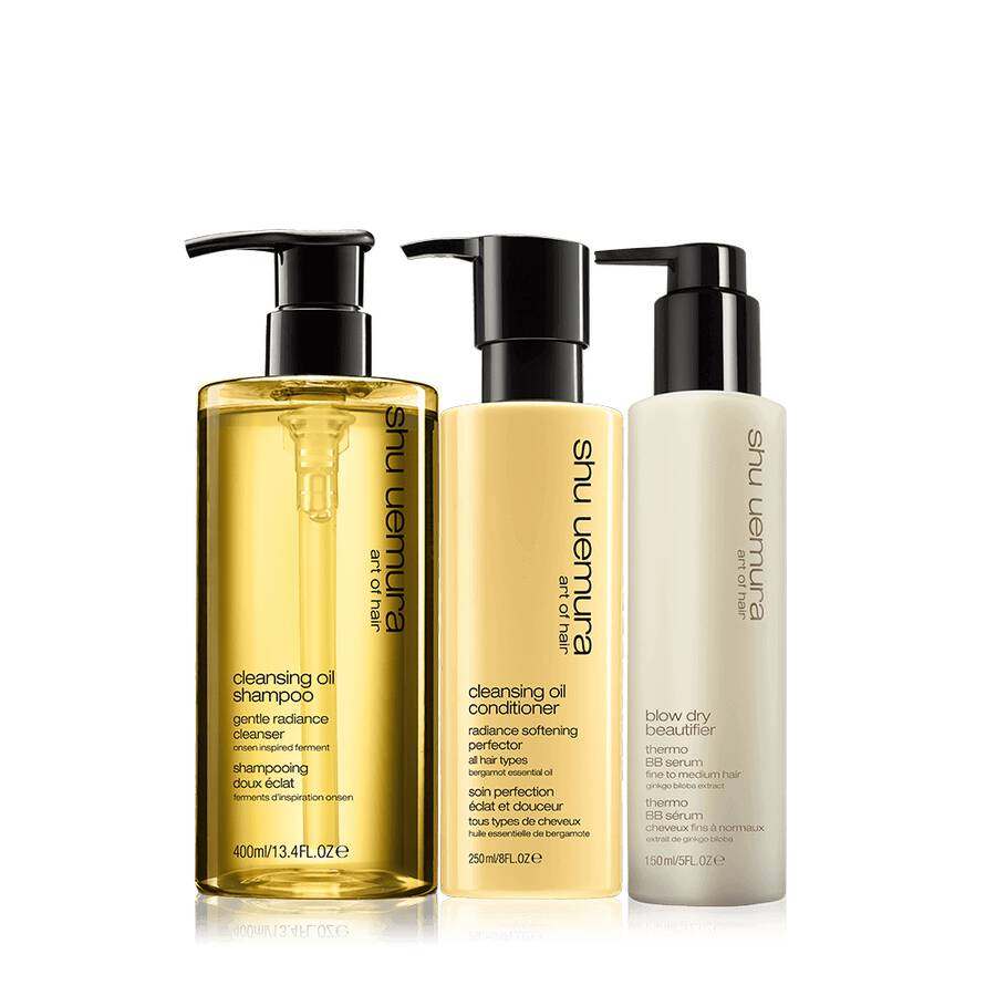 cleansing oil fine hair set