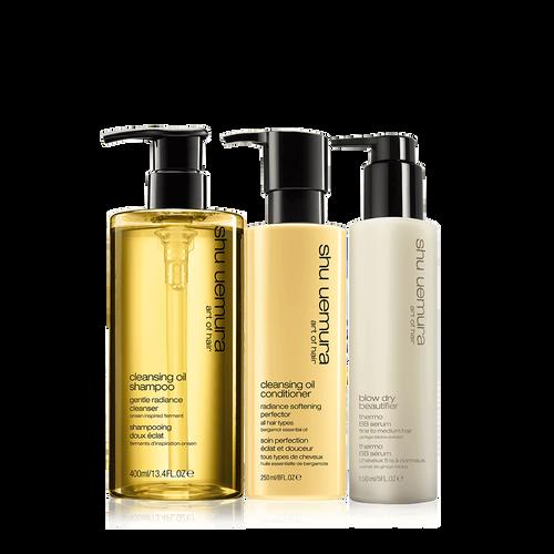 cleansing oil fine hair set