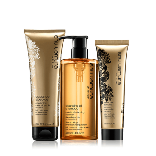 cleansing oil very dry hair set