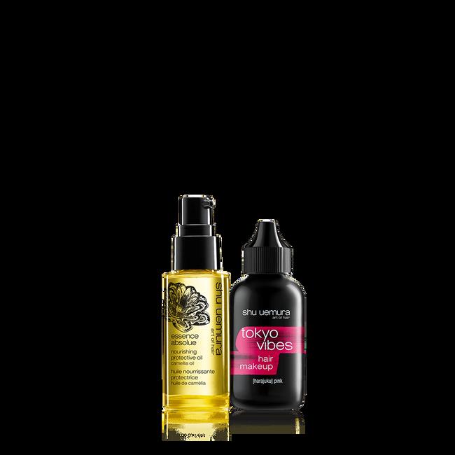 tokyo vibes pink hair makeup set