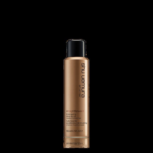 straightforward blow dry oil spray