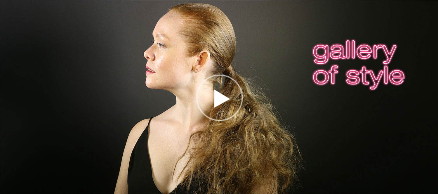 how to get a main teased ponytail video tutorial
