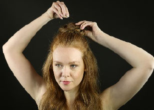 half up top knot hairstyle step 4