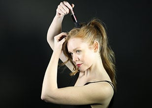 how to create a pumped up ponytail hairstyle step 5