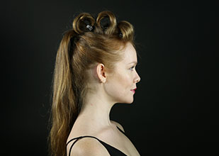 how to create a pumped up ponytail hairstyle step 4