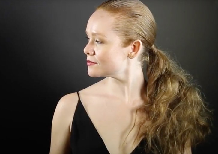 how to create a teased ponytail hairstyle video tutorial