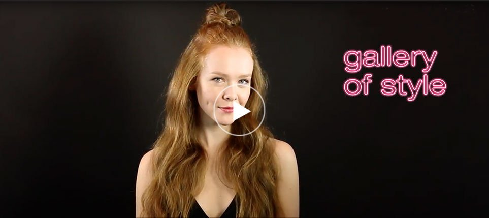 how to create a half up top knot video tutorial