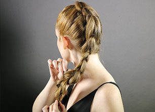 textured mohawk braid step 6