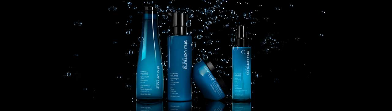 The all-new Muroto Volume hair care collection for fine hair
